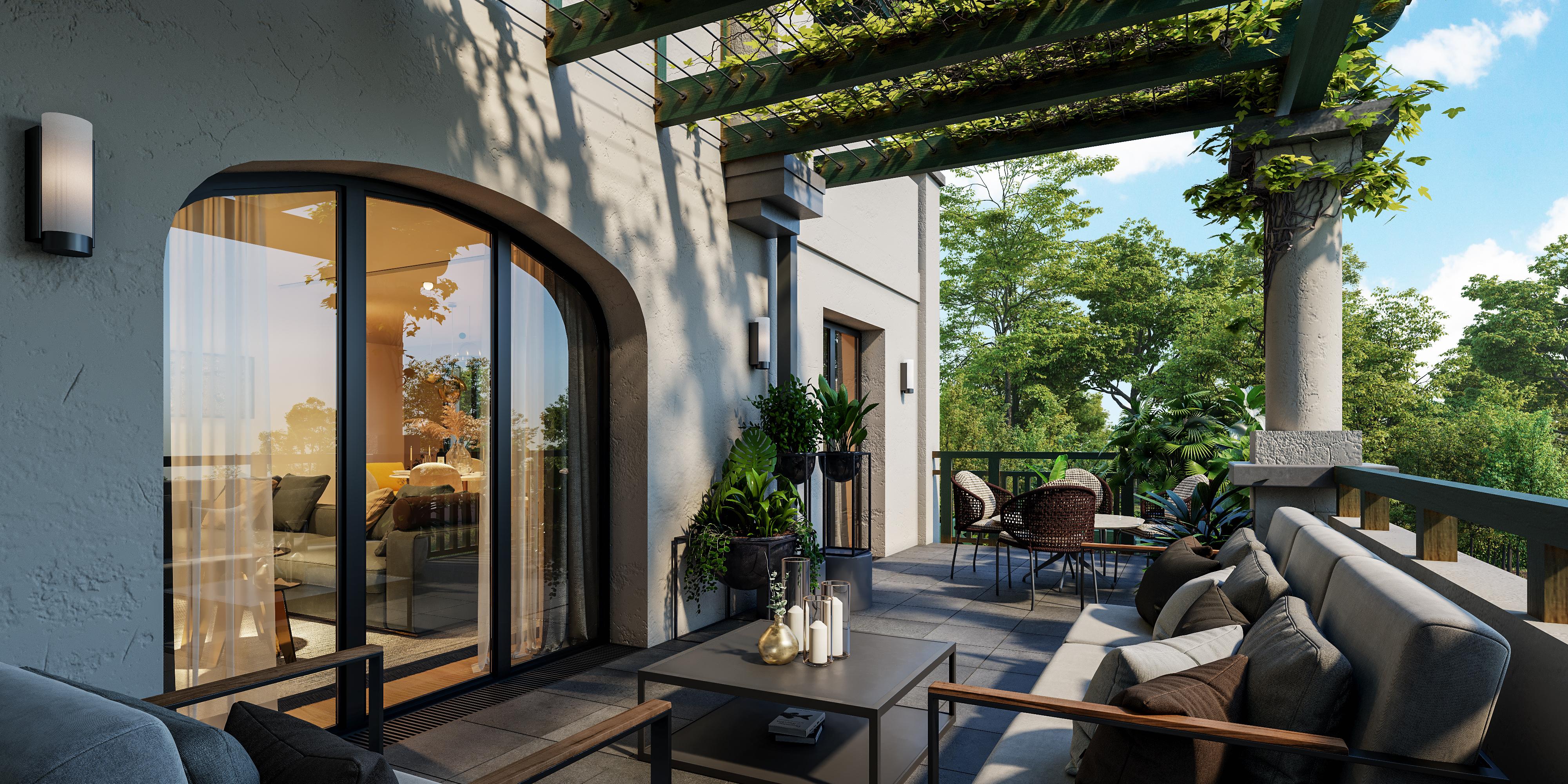 Terrasse appartement standing neuf Biarritz Villa Grammont